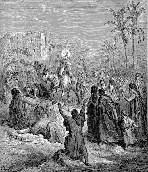 Entry of Jesus into Jerusalem, Gustave Dore