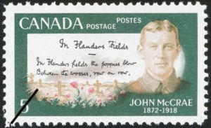 Lt. Col John McCrae Stamp