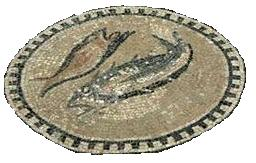 Mosaic of Fish on the floor of the Chapel of the  